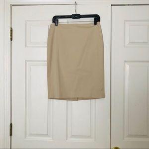 Ann Taylor Tan mini skirt with zipper on the back